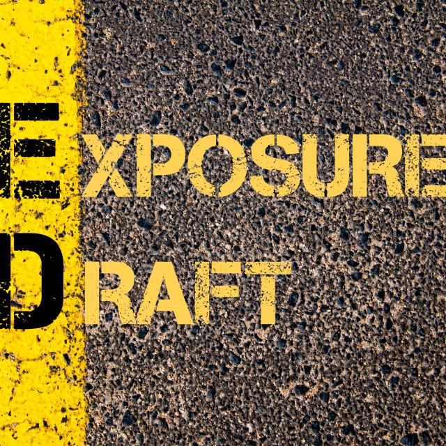 """Business Acronym ED as Exposure Draft"" stock image"