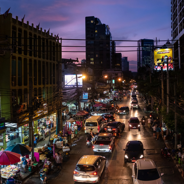 """Busy Street in Bangkok"" stock image"