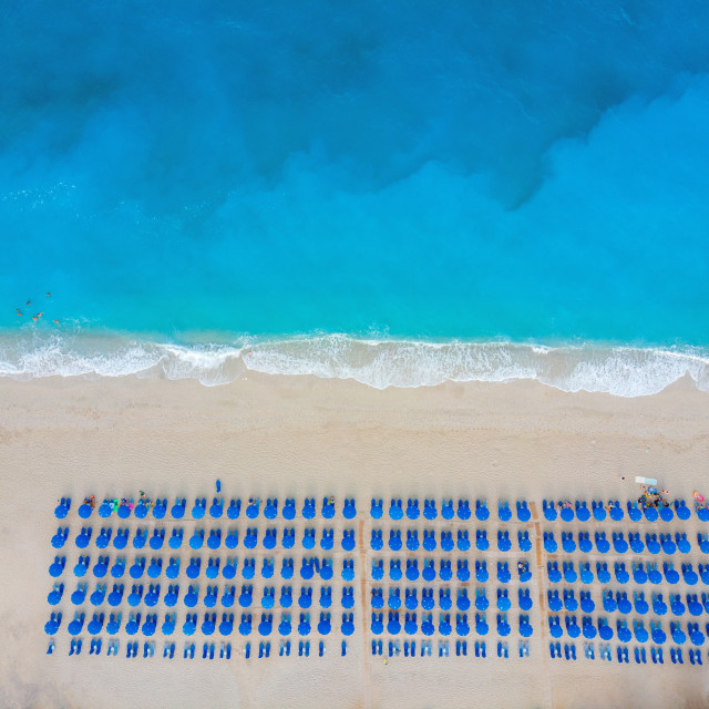 """""""Aerial view at the beach. Beautiful natural seascape at the summ"""" stock image"""
