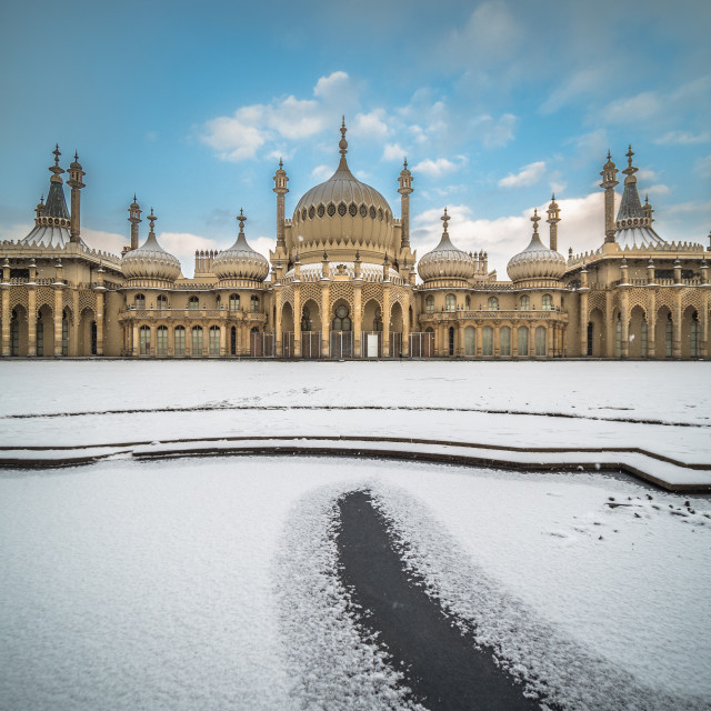 """Brighton in winter"" stock image"