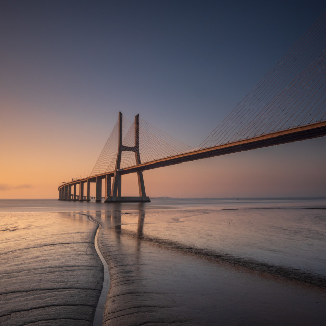 """Vasco da Gama bridge"" stock image"
