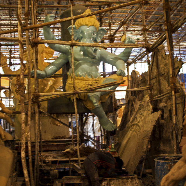 """""""Ganesha in the making"""" stock image"""