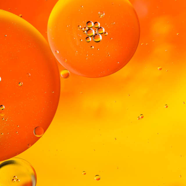 """Orange Bubbles"" stock image"