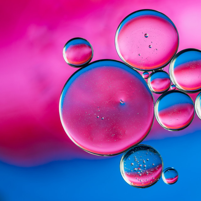 """Pink and Blue Bubbles"" stock image"