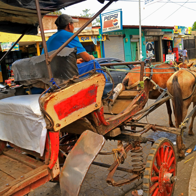 """Horse carriages in Masaya"" stock image"