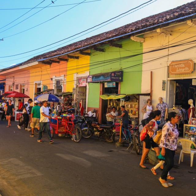 """Granada streets"" stock image"