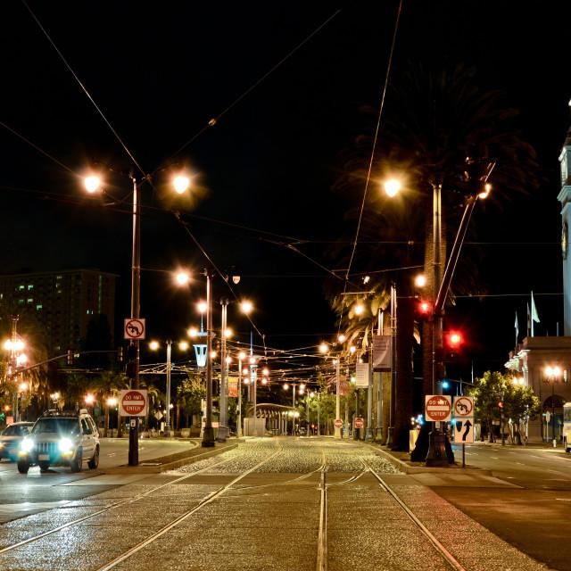 """San Francisco-CA - The Embarcadero Avenue"" stock image"