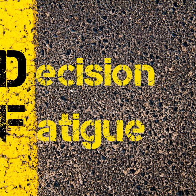"""""""Business Acronym DF Decision Fatigue"""" stock image"""