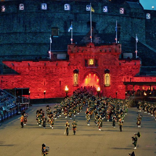 """Pipes and Drums at the Tattoo"" stock image"