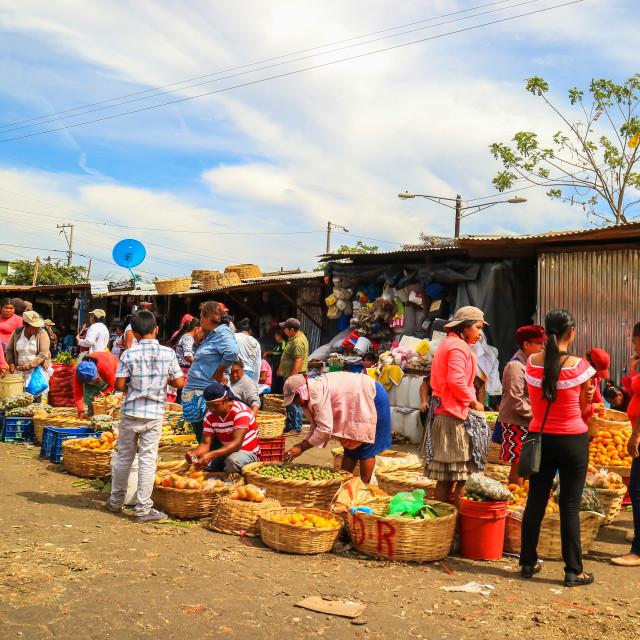 """Masaya market"" stock image"