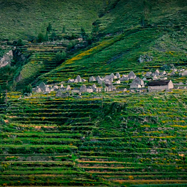 """Pre-Inca ruins in cultivation terraces"" stock image"