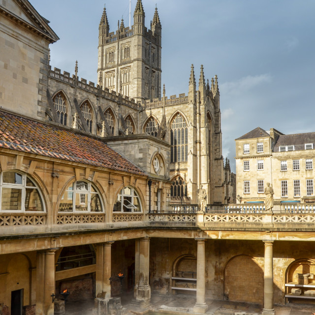 """The Roman Baths"" stock image"