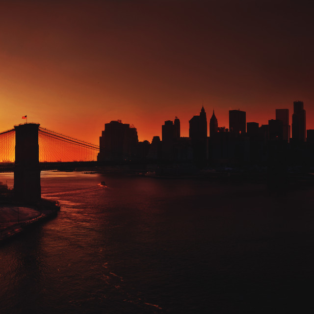 """Manhattan Sunset"" stock image"