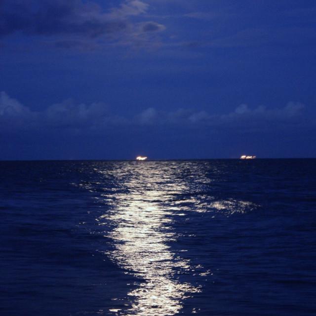 """Moon reflection"" stock image"