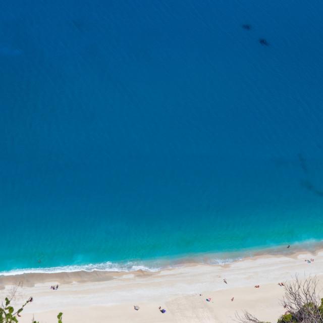"""""""Egremni beach, Lefkada, Greece"""" stock image"""