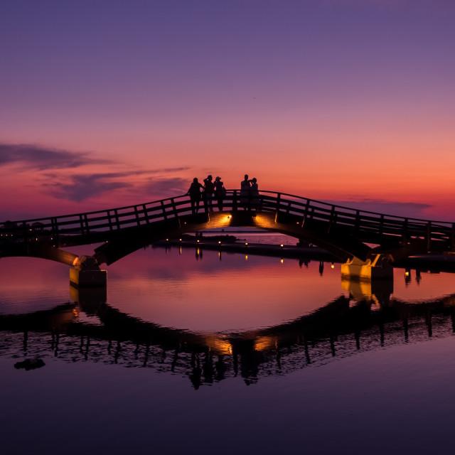"""""""Lefkada Marina at sunset"""" stock image"""