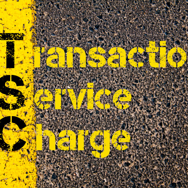 """Accounting Business Acronym TSC Transaction Service Charge"" stock image"
