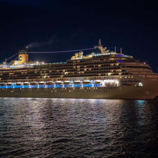"""Costa Favolosa at Sea"" stock image"