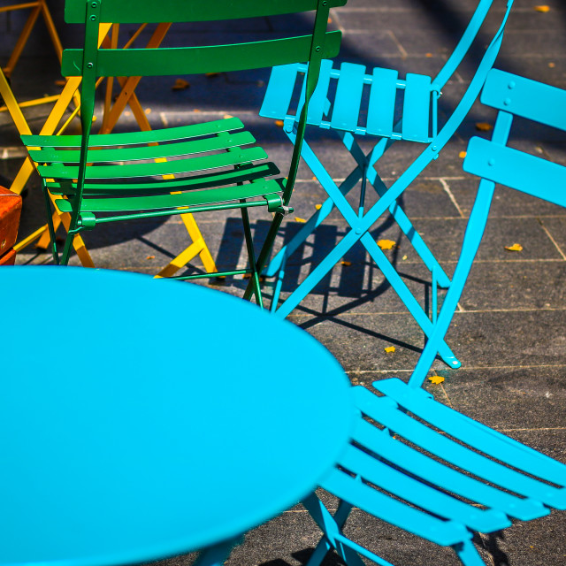 """""""Coloured Chairs"""" stock image"""