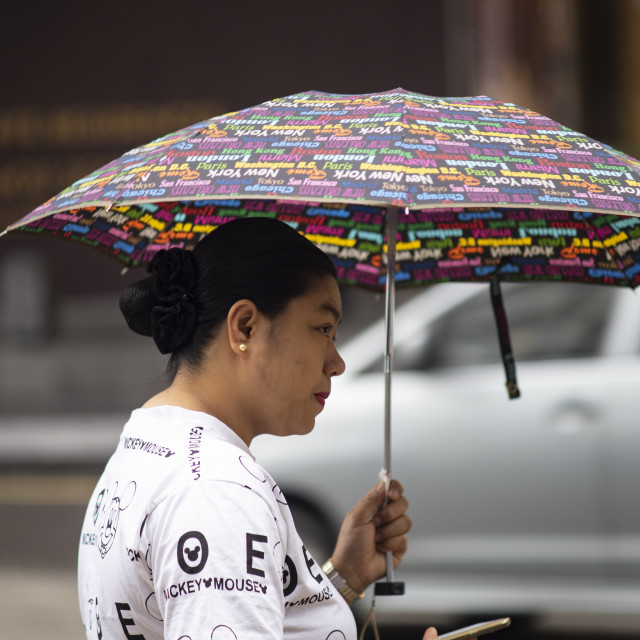 """Street Photo - Rainy Day (multi)"" stock image"