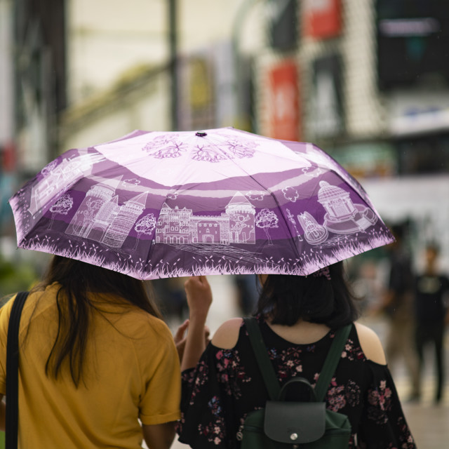 """Street Photo - Rainy Day (Duo)"" stock image"