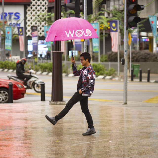 """Street Photo - Rainy Day (WOLO)"" stock image"