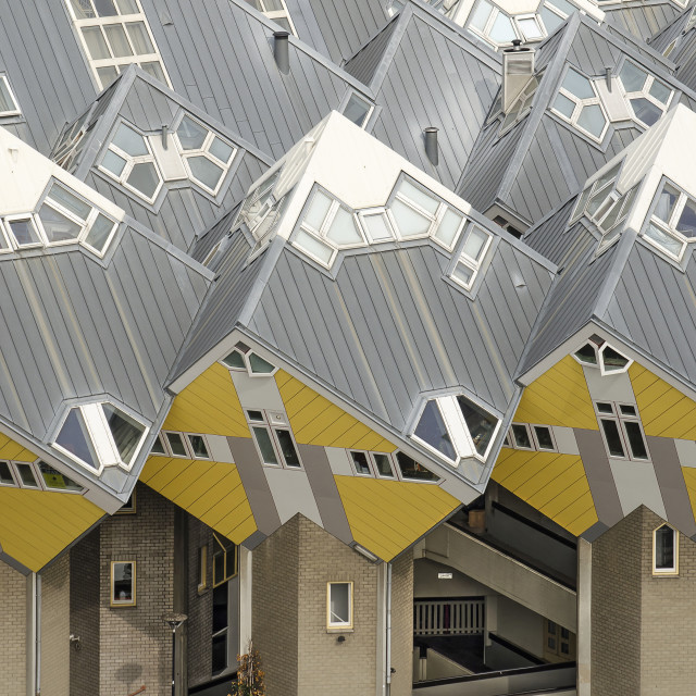 """Cube houses close-up"" stock image"