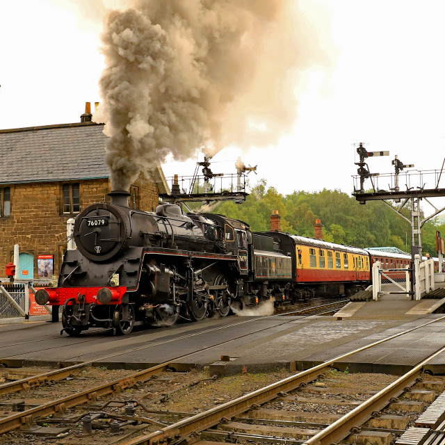 """BR Standard Class 4 76079"" stock image"