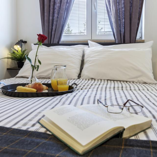 """""""Bedroom breakfast"""" stock image"""