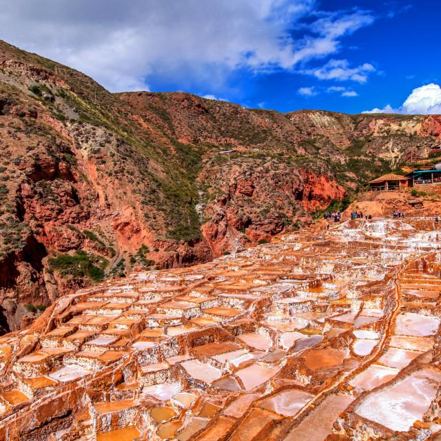 """Salt Pans of Maras"" stock image"