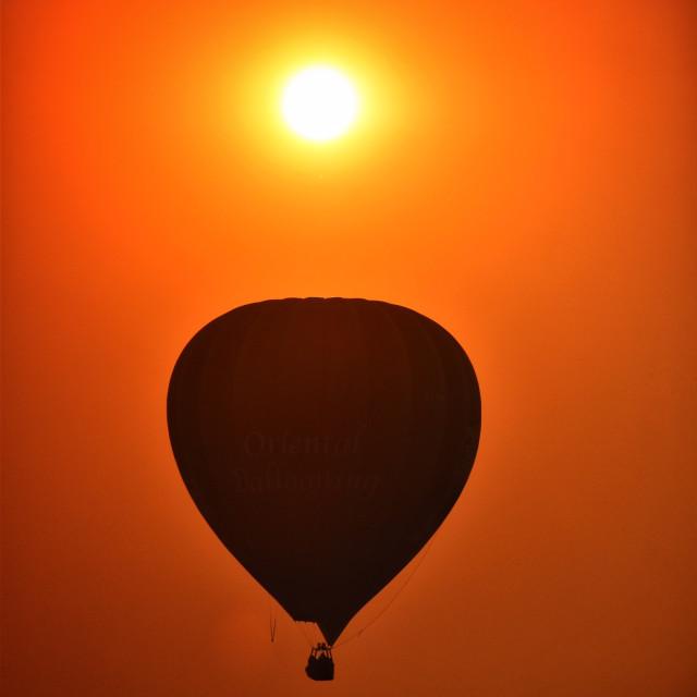 """""""Balloon at sunset"""" stock image"""