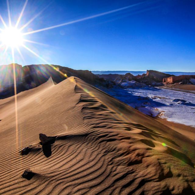"""Valle de la Luna, big Dune"" stock image"