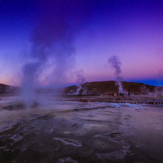 """El Tatio geyser field"" stock image"