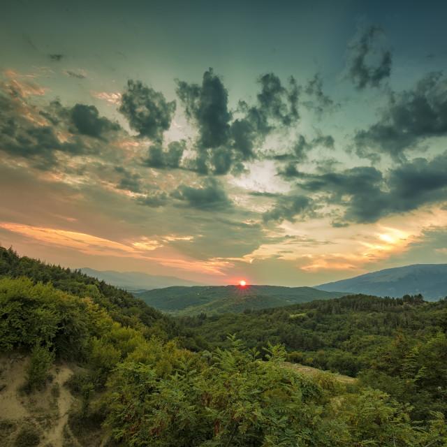 """a majestic sunset"" stock image"