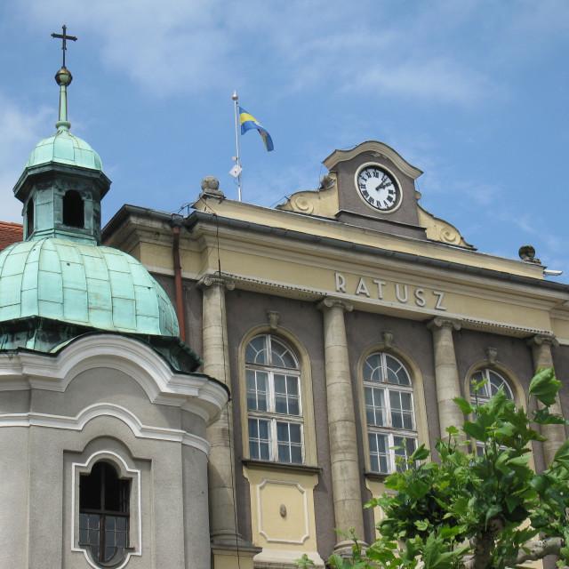 """""""Pszczyna: Town Hall (Ratusz)"""" stock image"""