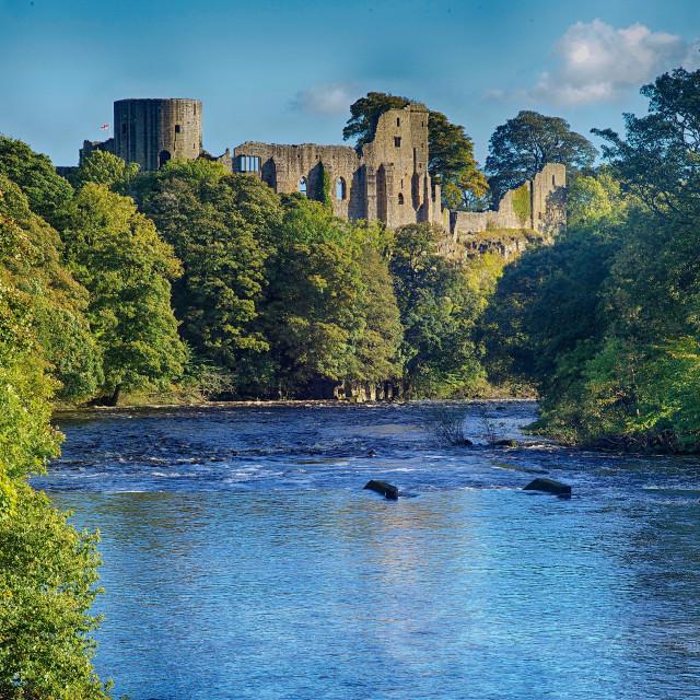 """Barnard Castle, Teesdale County Durham"" stock image"