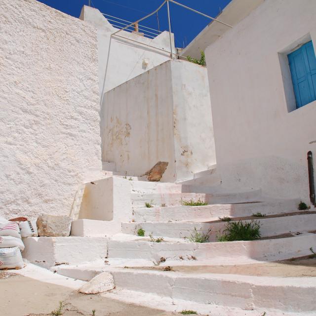 """""""Megalo Chorio, Tilos island"""" stock image"""