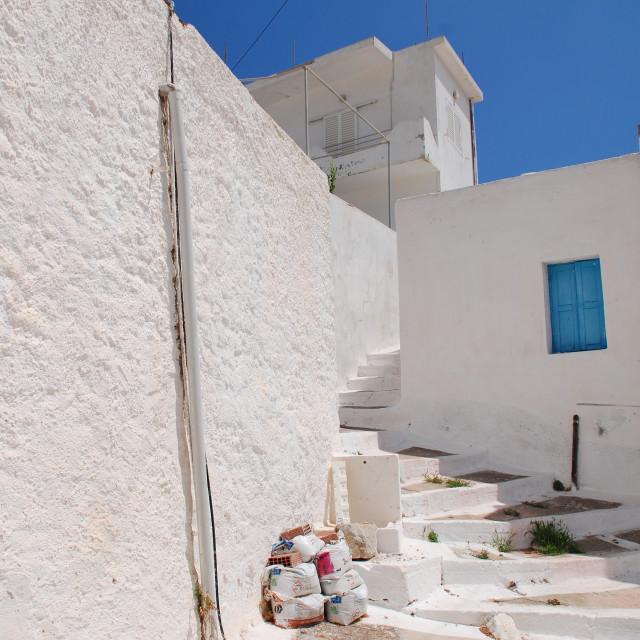 """Megalo Chorio village, Tilos"" stock image"