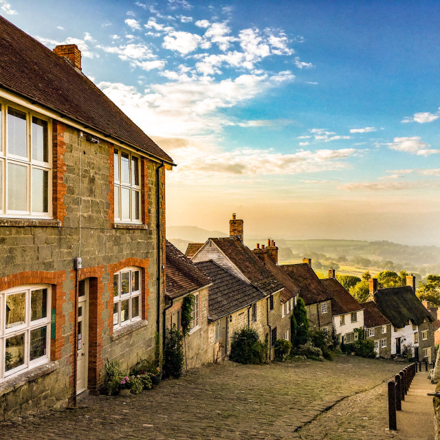 """""""Gold Hill"""" stock image"""