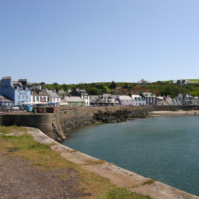 """Portpatrick Harbour Entrance"" stock image"