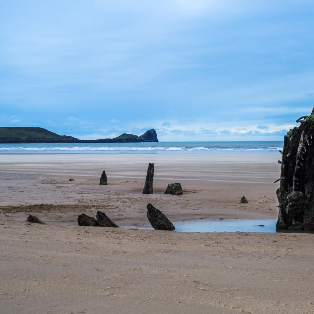 """Worms Head and the Helvetia"" stock image"