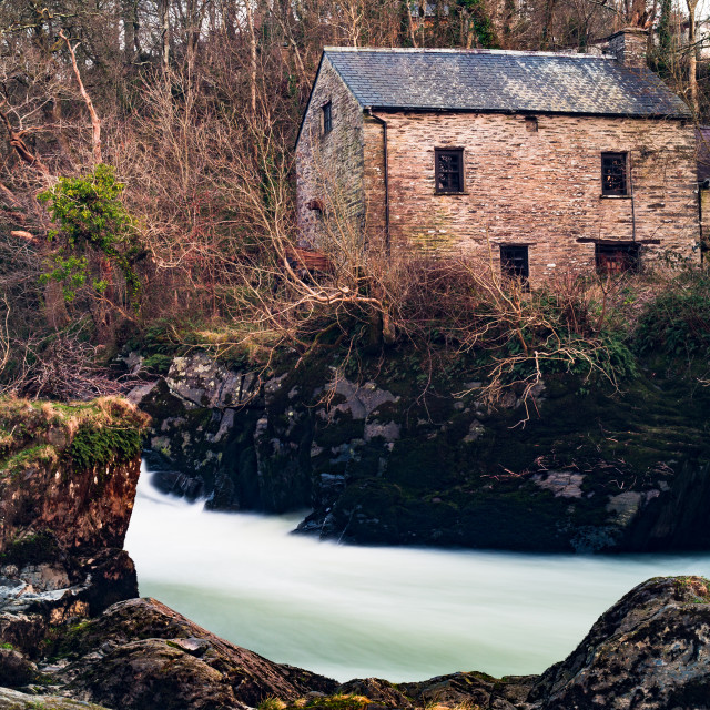 """The Old Mill House"" stock image"