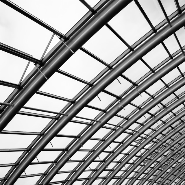 """""""Great Glasshouse Roof"""" stock image"""