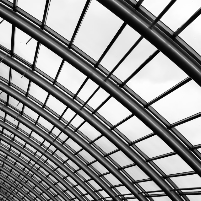 """""""Curve of the Roof"""" stock image"""