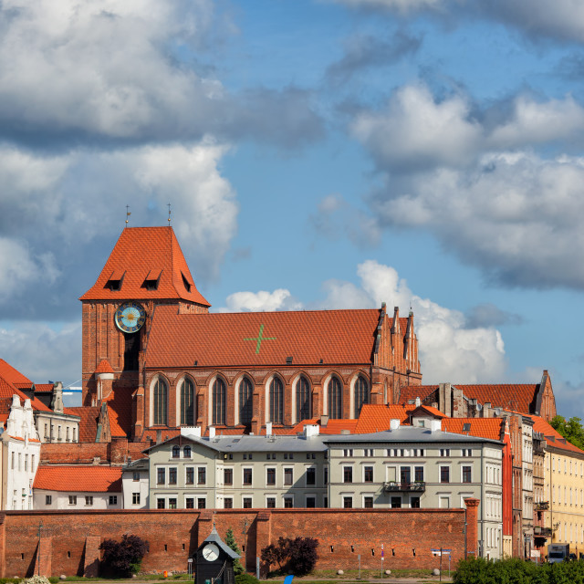 """City of Torun Old Town Skyline in Poland"" stock image"