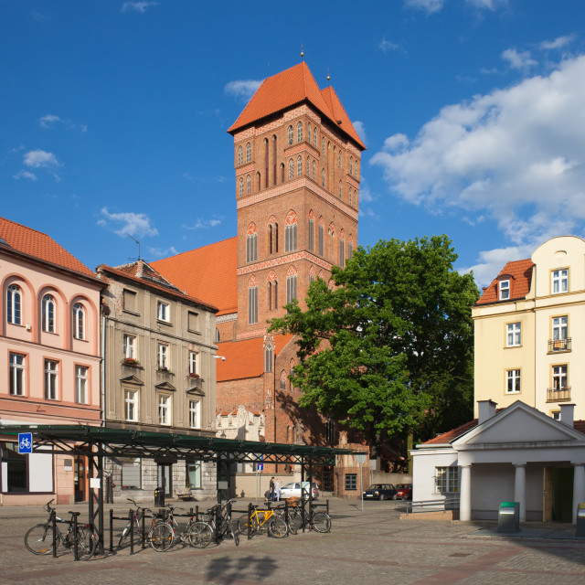 """New Town Square in Torun"" stock image"