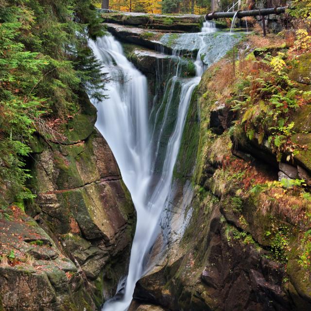 """""""Szklarka Waterfall in Autumn"""" stock image"""