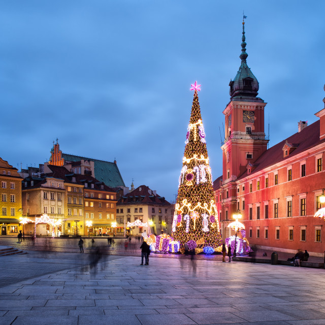 """Christmas in Old Town of Warsaw in Poland"" stock image"