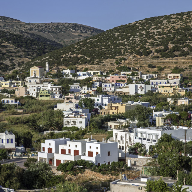 """Galissas Village, Syros."" stock image"