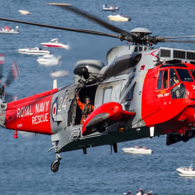 """""""Royal Navy Sea King"""" stock image"""